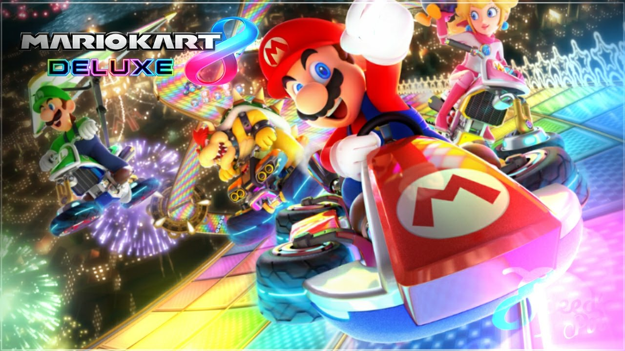 Mario Kart 8 Background: Mario Kart 8 Deluxe Wallpaper Speedart +Download Link