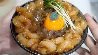 [Sweet Shrimp Yukke Bowl] was too delicious. Plus too easy to make.