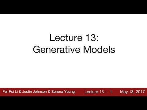 Lecture 13   Generative Models