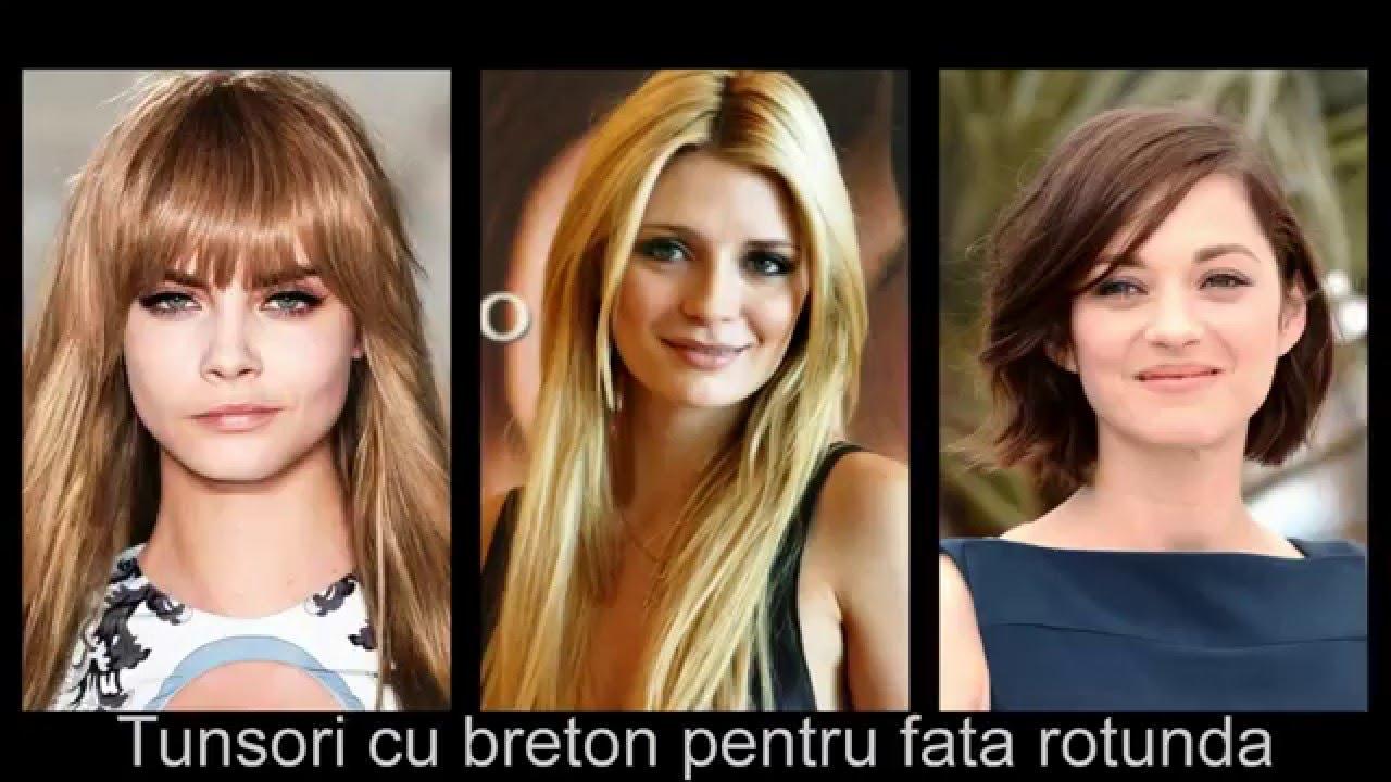 Tunsori Cu Breton Pentru Fata Rotunda Youtube