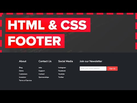 How To Make A Footer In HTML And CSS For Beginners Tutorial - Fully Responsive