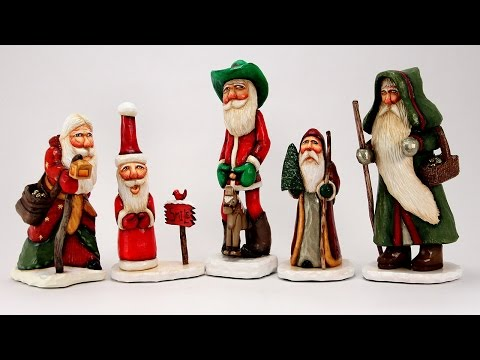 Ustream Rebroadcast: Santa Wood Carvings and Lots More! with Barb Owen - HowToGetCreative.com