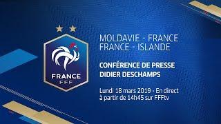 Équipe de France, la conférence de Didier Deschamps en replay (lundi 18 mars, Clairefontaine)