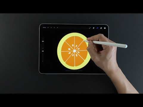 how-to-draw-half-an-orange-on-ipad