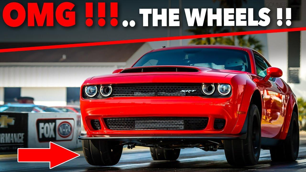 Dodge Challenger Srt Demon Drag Accelerations 840 Hp Pulls The