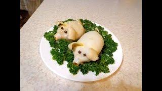 Фаршированные кальмары- Свинки. Праздничная закуска