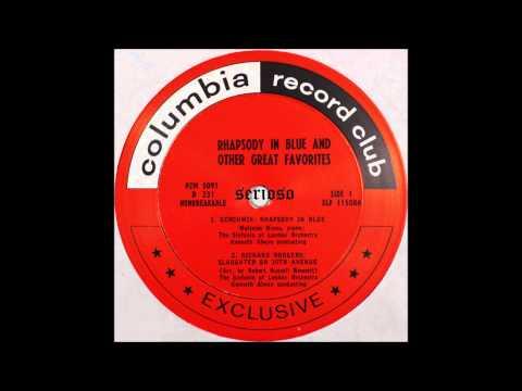 Gershwin, Rhapsody In Blue ,,Slaughter on 10th Avenue ,Richard Rogers