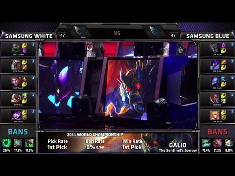 Samsung White vs Samsung Blue | Game 2 Semi Finals S4 Worlds LOL 2014 Playoffs | SSW vs SSB G2