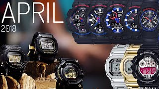APRIL 2017 New Release G-SHOCK watches