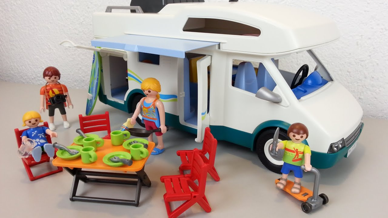 Playmobil familien wohnmobil 6671 auspacken seratus1 for Autocaravana playmobil