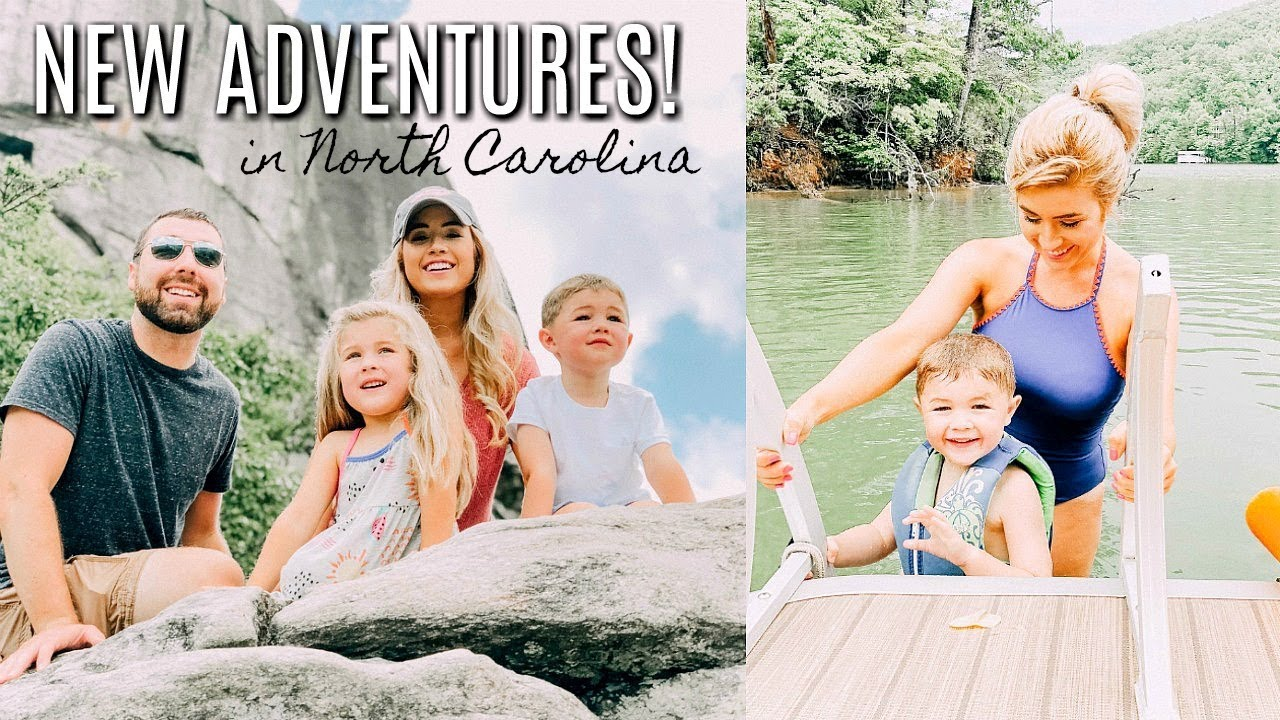 LAKE LURE CHIMNEY ROCK VACATION TRAVEL VLOG | NC MOUNTAINS 2018 | Love Meg