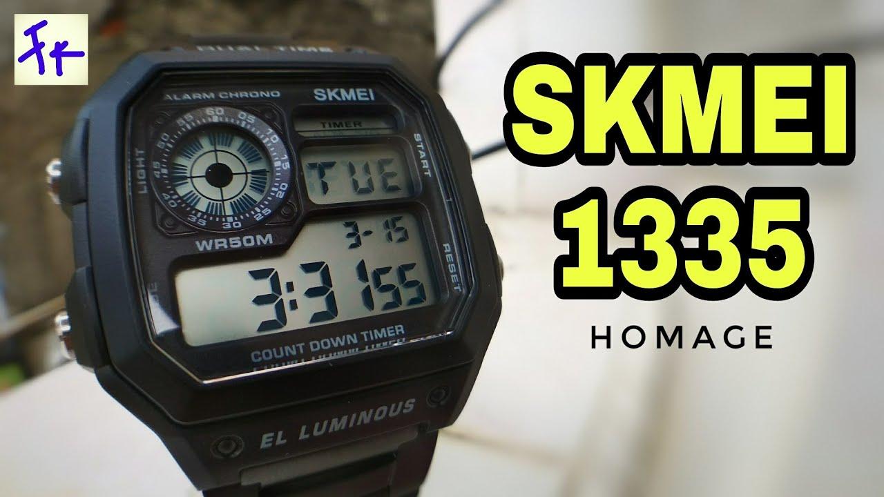 Skmei 1335 Black Review Jam Homage Youtube Tangan Pria 333mlbldg1