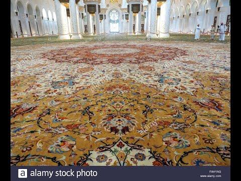 The Interior Floor Carpet of Sheikh Zayeed Grand Mosque.Abu Dhabi.