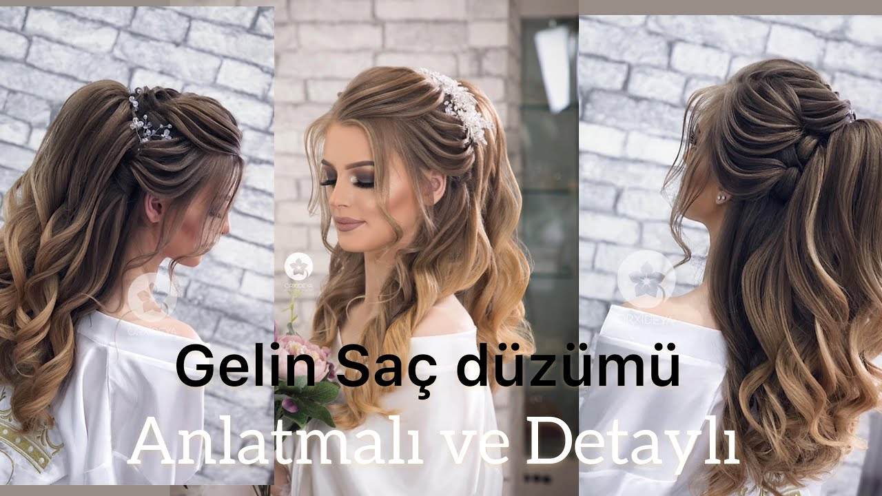 Orxideya Beauty Yeni Trend Gəlin Sac Duzumu New Trend Bridal Hairstyle By Turac Youtube
