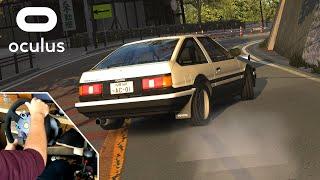 124HP Toyota AE86 Drifting - Otarumi Touge   Assetto Corsa VR Gameplay [Wheelcam]