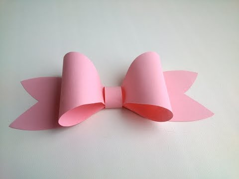 Paper decoration: Easy Paper Bow  for gift box decoration. Gifts ideas