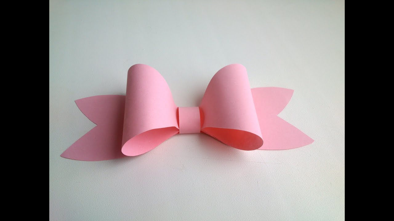 Paper decoration easy paper bow for gift box decoration for How to make a paper design