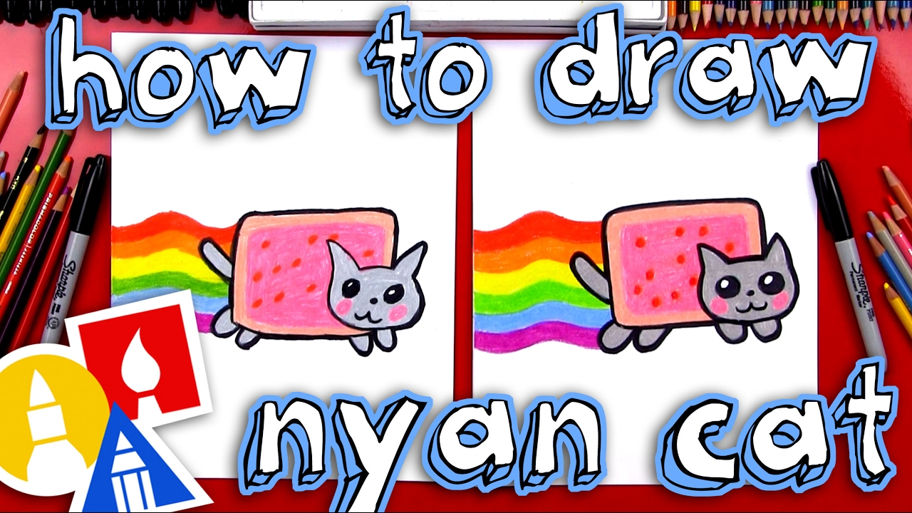 How To Draw The Nyan Cat - YouTube