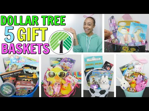 5 DOLLAR TREE GIFT BASKET IDEAS! PERFECT FOR LAST MINUTE!