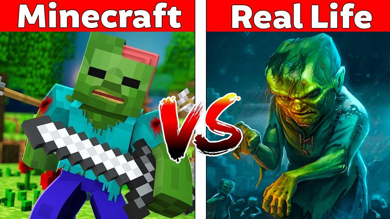 MINECRAFT ZOMBIE IN REAL LIFE! Minecraft vs Real Life Animation