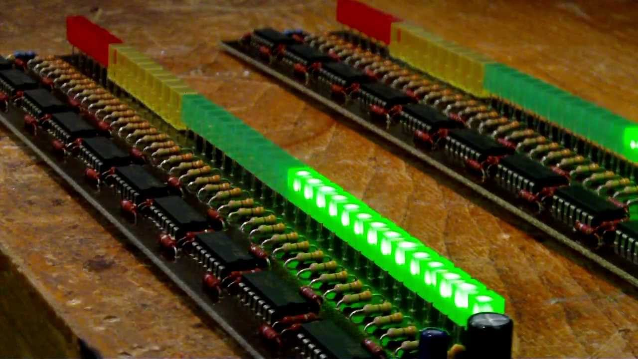 Stereo Vu Meter With 80 Leds