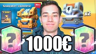 💰Neuer PAY2WIN Account! | 1000€ für Chest Openings! | Clash Royale deutsch
