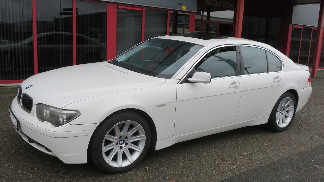 750191 BMW 745I E65 SEDAN 44L V8 333HP 10 02 WHITE 44947KM LHD