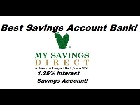 Best Savings Account Bank With 1.25% Interest Rate My Savings Direct