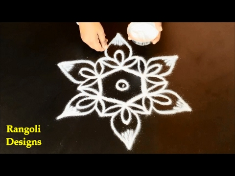 simple rangoli beginners easy