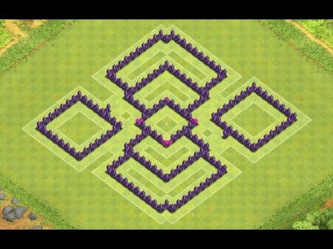 Clash of Clans - TH7 Hybrid Base Anti Dragons - YouTube