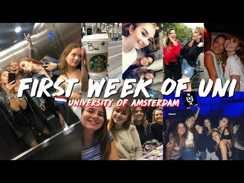 WHAT THE FIRST WEEK OF COLLEGE IS REALLY LIKE | University of Amsterdam