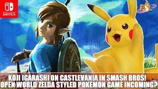 Nintendo Switch - Zelda Style Open World Pokemon Game Incoming? & Igarashi on Castlevania in Smash!