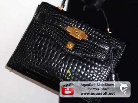 GIANNI VERSACE COUTURE CROCODILE HERMES KELLY BAG 1997 - YouTube