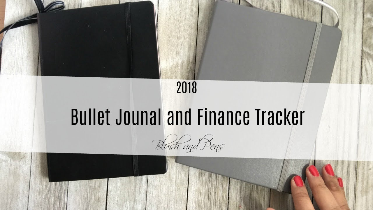 2018 bullet journal and finance tracker setup youtube