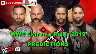 WWE Extreme Rules 2019 Raw Tag Team Championship The Revival vs  The Usos Predictions WWE 2K19