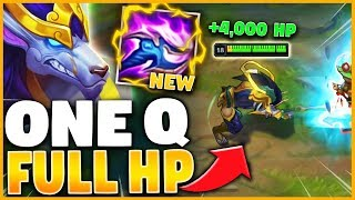 *FULL HP 0.5 SECONDS* ONE Q = 4,000 HEALTH (UNKILLABLE) - League of Legends