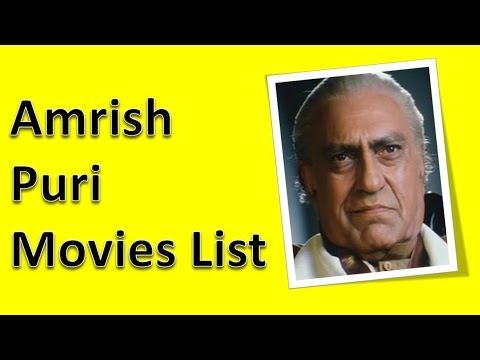 Amrish Puri Movies List - YouTube