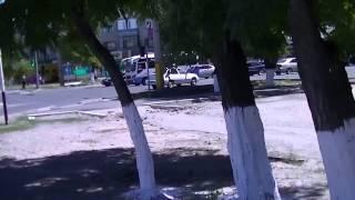 Тараз (Джамбул)Видео-панорамы у кафе ЭЛЬБА и пер. пр. Жамбыла (Трудовая)- Ниеткалиева-Орджоникидзе