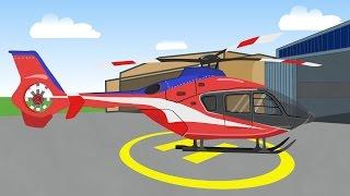 Helicopter | Airplane | Pickup Truck | Hot Rod | Garbi Car -  Helikopter Bajka D