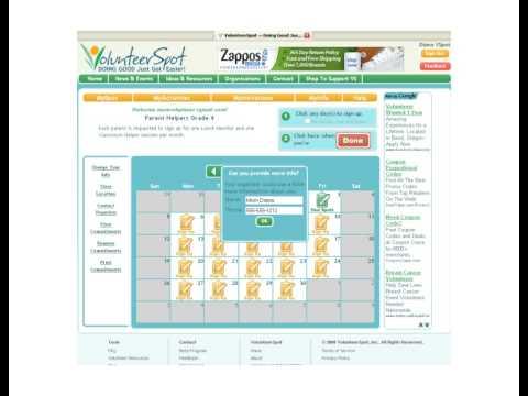 VolunteerSpot - Free Online Volunteer Scheduling - YouTube