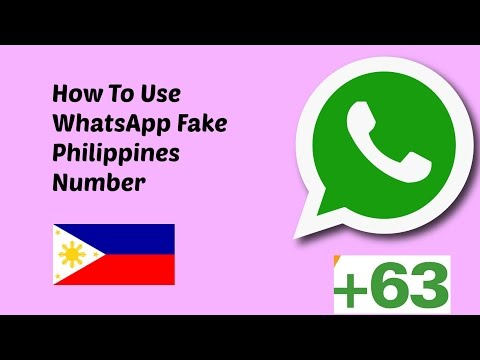 How To Use WhatsApp FAKE  Philippines  number  2017