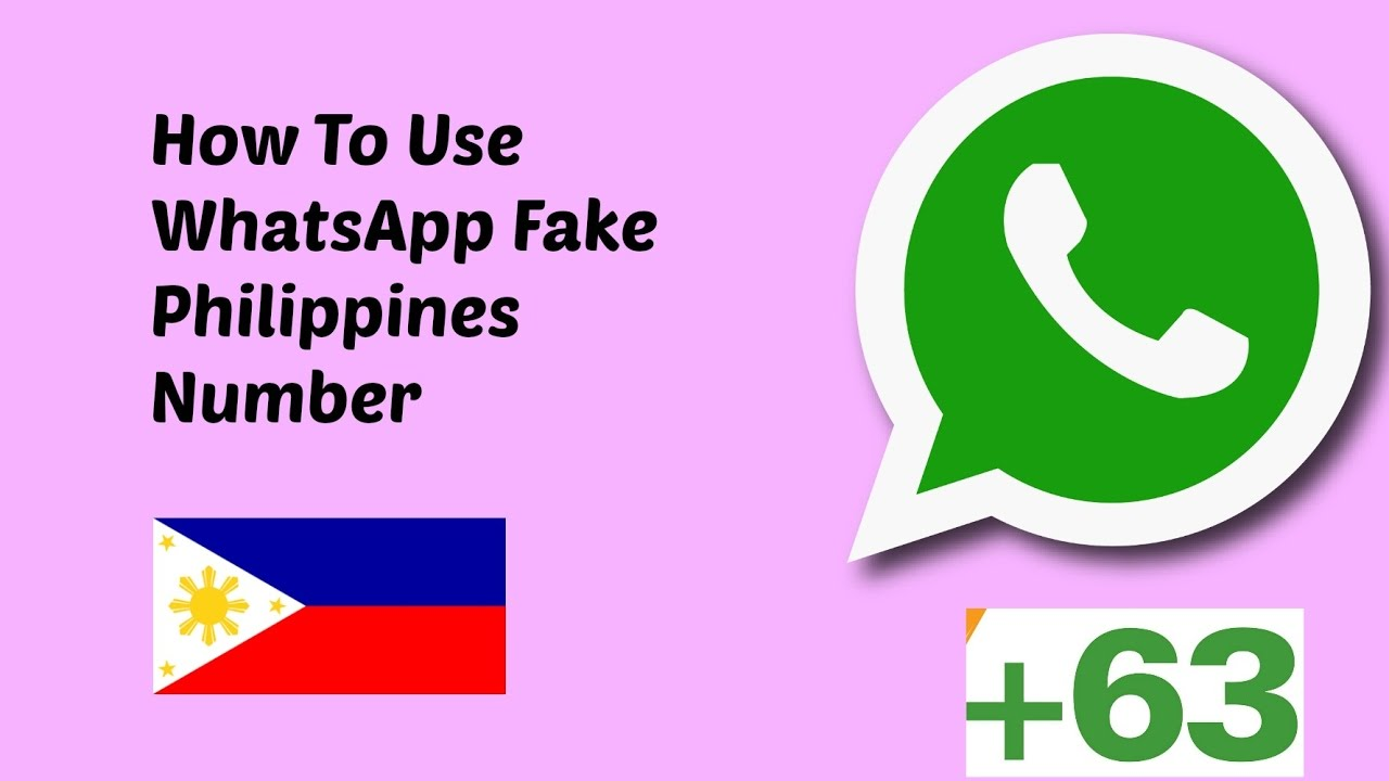 How To Use WhatsApp FAKE Philippines number 2019