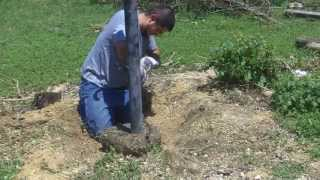 How To Remove A Fence Post With Concrete