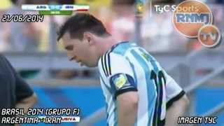 Messi vomita Argentina - Irán (21/06/2014) Mundial Brasil 2014