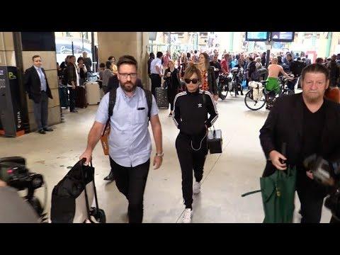 Singer Rita Ora arrives at Gare du Nord station in Paris
