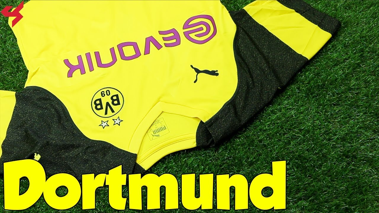 brand new 1f6b1 4a7a5 Puma Borussia Dortmund 2018/19 Home Jersey Unboxing + Review