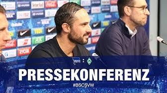 PK vor Werder Bremen - Bundesliga - 25. Spieltag - Hertha BSC