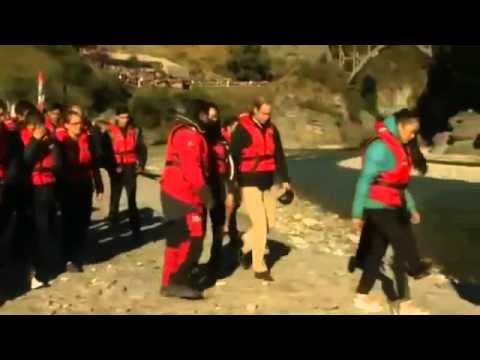 Royals make a splash  William and Kate take boat ride down the Shotover River in Queenstown