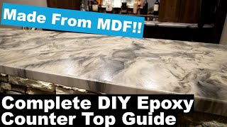 DIY Epoxy Counter Tops | Turn MDF Into Amazing Counters with Leggari Epoxy!