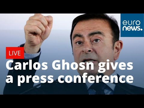 Carlos Ghosn, Nissan's Ex-boss, Gives A Press Conference In Beirut | LIVE
